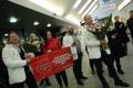Olympic speedskater Saskia Ahusalu arrived at Tallinn Airport late on Monday night. Feb. 26, 2018.