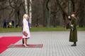 Crown Prince Haakon and Crown Princess Mette-Marit of Norway arrive at Kadriorg Palace