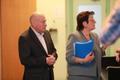 Марк Левин и Маре Леппик в суде.