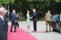 King Willem-Alexander meets with President Kersti Kaljulaid in Kadriorg on Tuesday. 12 June, 2018.