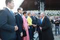 Crown Princess Victoria of Sweden at the Estonia 100 singing event.
