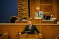 Tammist giving his oath of office before the Riigikogu. 22 Augut 2018.