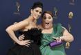 70. Emmy gala punane vaip, Sarah Silverman ja Chrissy Metz
