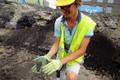 Archaeological excavation at Jahu 6 in Tallinn's Kalamaja District. August 2018.