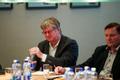 Eesti Panga nõukogu liikmed Rein Minka ja Jaanus Tamkivi.