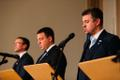 Sven Misker, Jüri Ratas, Urmas Reinsalu pressikonverentsil