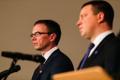 Sven Misker ja Jüri Ratas pressikonverentsil