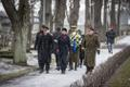 Ceremony marking the 100th anniversary of the arrival of the Royal Navy's Baltic Squadron at Tallinn's military cemetery on Thursday.