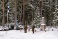 Rahvamatk Priske mälestuskivi juurest Lahinguväljale.