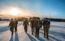 Prime Minister Jüri Ratas (Centre) and Minister of the Interior Katri Raik (SDE) visited Estonia's southeastern border on Friday. 18 January 2019.