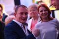 Reformierakondlased valimisvõitu tähistamas, Rain Rosimannus ja Keit Pentus-Rosimannus