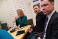 Reformierakonna juhatuse koosolek: Kaja Kallas, Hanno Pevkur ja Taavi Rõivas