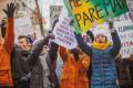 Õpilased kliimamuutuste vastu.