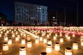 Candles lit in Tallinn in memory of the March deportation of 1949. 25 March 2019.