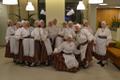 The Helsinki, Finland-based folk dance troupe Helsingi Helmed.