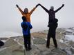 Dancers from the Oslo, Norway-based practicing the final lift in wedding dance Tuljak on top of the mountain Gastatoppen.
