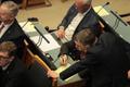 Выступление кандидата в премьер-министры Юри Ратаса в Рийгикогу.