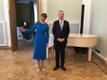 Торжественное открытие после реставрации здания посольства Эстонии в Москве.