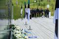Küüditamise aastapäeva üritus Maarjamäe Kommunismiohvrite memoriaali juures.