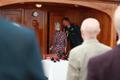 Taani kuninganna Margrethe II kuninglikul jahil Dannebrog.