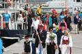The Song Festival flame arrived in Tallinn on Wednesday. July 3, 2019.