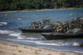 JEF amphibious landing exercise at Vakla beach on Thursday.
