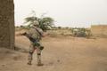 Eesti jalaväerühma liige Malis ühisoperatsioonil.