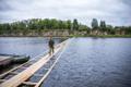 Pioneeripataljon rajas Pärnu jõele jooksusilla.