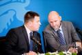Martin Helme, Jüri Ratas ja Helir-Valdor Seeder eelarvet tutvustamas