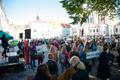 Climate protest on Toompea in Tallinn on Friday.