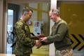 The Queen's Royal Hussars unit formally beginning their five-month rotation in NATO Battlegroup Estonia at Tapa Army Base. Tuesday, Nov. 5, 2019.