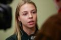 Anett Kontaveit talking to ERR late in 2019.