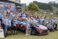 Hyundai tiim tähistas meeskondlikku MM-tiitlit.