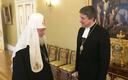 Archbishop Urmas Viilma meeting head of the Russian Orthodox Church Patriarch Kirill in Moscow.