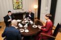 Arvo Aller ja Jüri Ratas president Kersti Kaljulaidi juures