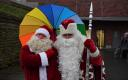 Estonian Santa Claus and Russian Grandfather Frost in Narva on Tuesday. December 18, 2019.