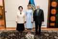 Guests at President Kersti Kaljulaid's birthday reception on Monday.