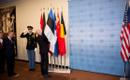 Estonian flag raised at UN Security Council.