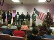 U.S. Embassy Marines presenting