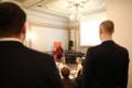 Tallinna sotsiaaldemokraatide üldkoosolek, kõnepuldis Karin Paulus