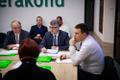 Keskerakonna juhatuse koosolek: Enn Eesmaa, Mihhail Korb ja Jüri Ratas