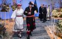 Rahvastikuminister Riina Solman ja Peeter Solman