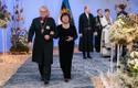 Eesti Kirikute Nõukogu president peapiiskop emeeritus Andres Põder ja Marje Põder