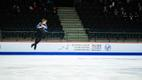 Aleksandr Selevko and other competitors at the Junior Figure Skating World Championships in Tallinn.