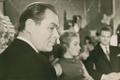 Laulja Georg Ots, ETV diktor Ruth Püss, laulja Illart Orav. Vana - aasta õhtu 1963,