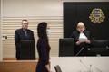 Kohtunik Katre Poljakova kohtuotsust välja kuulutamas