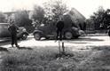 Nõukogude sõjamasinad Tallinna eeslinnas Nõmmel Vabaduse puiesteel. 17. juuni 1940.
