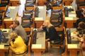 Riigikogu istungitesaal, esiplaanil Kristina Šmigun-Vähi