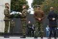 Vastupanuvõitluse päeva tähistamine Talinnas: kaitseminister Jüri Luik Vabadussõja võidusamba juures