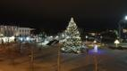 The Ülle Lichtfeldt-donated Christmas tree in Rakvere's town square.